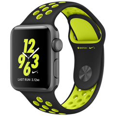 Apple Watch 2 42mm Space Gray Aluminum Case Nike+ Sport - Black/Volt (MP0A2)
