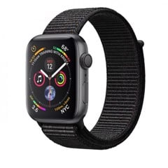 Apple Watch Series 4 44mm Space Gray Aluminum Case with Black Sport Loop (GPS) MU6E2