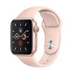 Apple Watch Series 5 40mm Gold Aluminium Case With Pink Sand Sport Band ( GPS ) - MWV72