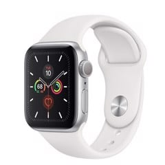 Apple Watch Series 5 40mm Silver Aluminium Case With White Sport Band ( GPS ) - MWV62