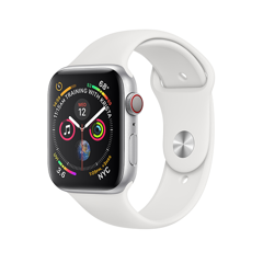 Apple Watch Series 4 40mm Silver Aluminum Case With White Sport Band (LTE) - New 99%