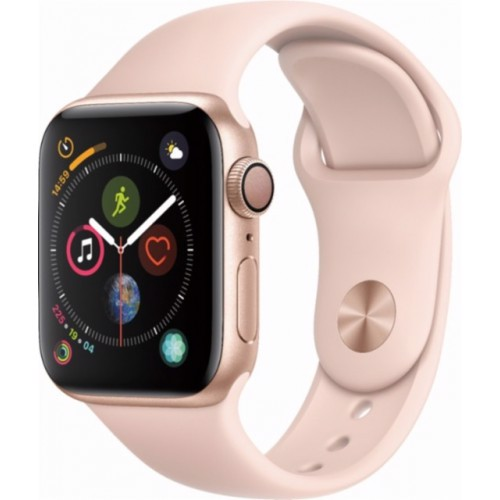 Apple Watch Series 4 40mm Gold Aluminum Case With Pink Sand Sport Band (GPS) MU682