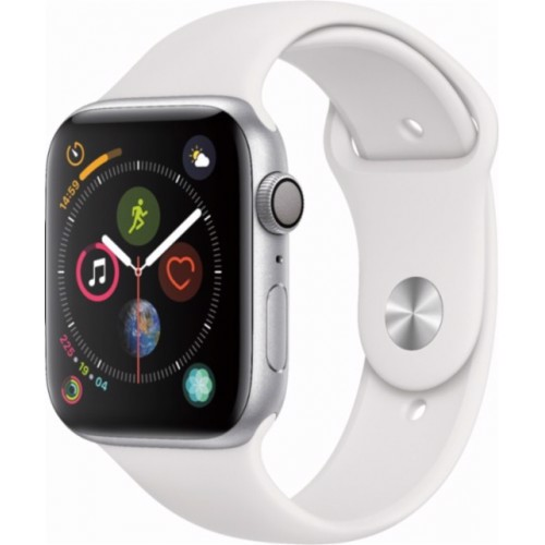 Apple Watch Series 4 44mm Silver Aluminum Case With White Sport Band (GPS) MU6A2