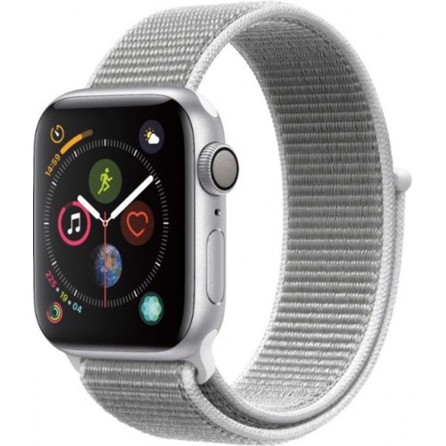 Apple Watch Series 4 44mm Silver Aluminum Case With Seashell Sport Loop (GPS) MU6C2