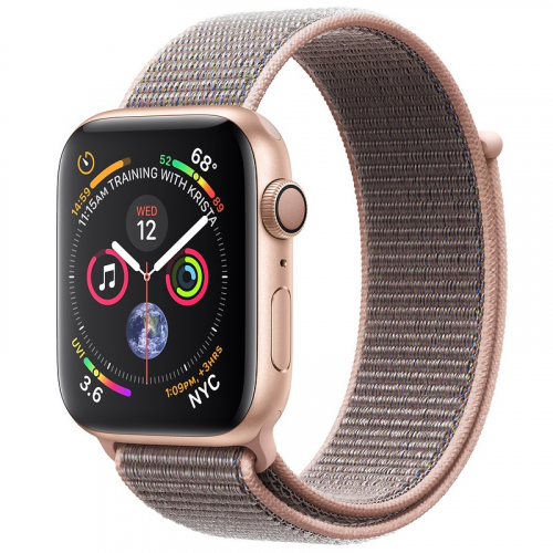 Apple Watch Series 4 44mm Gold Aluminum Case With Pink Sand Sport Loop (GPS) MU6G2