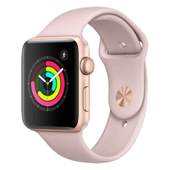 Apple Watch Series 3 38mm Gold Aluminum Case (GPS) Pink Sand Sport Band - MQKW2 New 99%