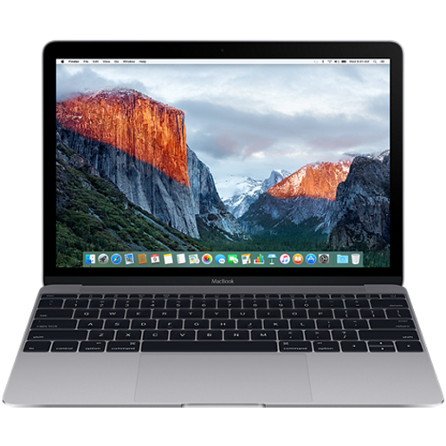 Apple Macbook 12 inch 256GB - Gray (MLH72) 2016