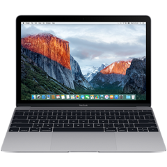 Apple Macbook 12 inch 512GB - Gray (MLH82) 2016