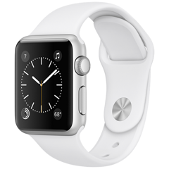 Apple Watch 2 38mm Silver Aluminum Case Sport - White (MNNW2)