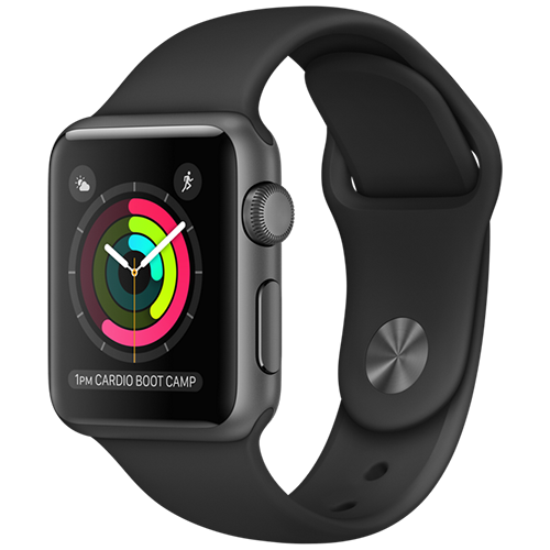 Apple Watch 2 38mm Space Gray Aluminum Case Sport - Black (MP0D2)