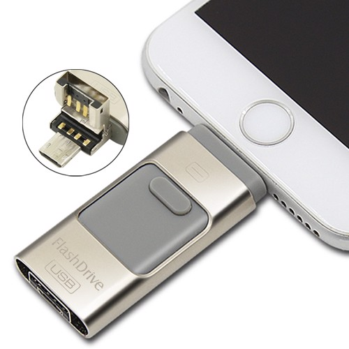 Flash Drive OTG 3 in 1 cho iPhone & Android Phone 32GB