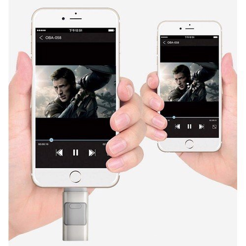 Flash Drive OTG 3 in 1 cho iPhone & Android Phone 8GB