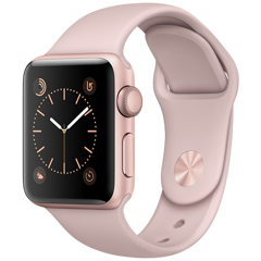 Apple Watch 2 38mm Rose Gold Aluminum Case Sport - Pink Sand (MNNY2)