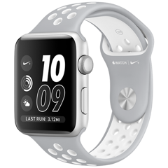 Apple Watch 2 42mm Aluminum Case Nike+ Sport - Silver/White (MNNT2)