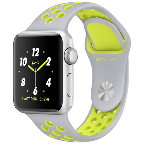 Apple Watch 2 38mm Aluminum Case Nike+ Sport - Silver/Volt (MNYP2)