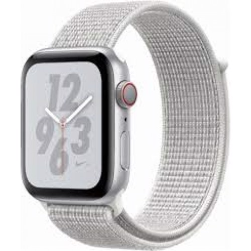 Apple Watch Series 4 44mm Silver Aluminum Case With Summit White Nike Sport Loop (GPS) MU7H2