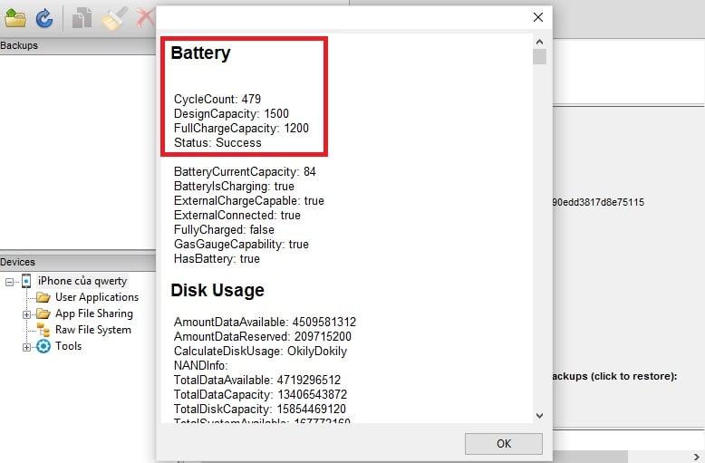 Kiểm tra độ chai pin iPhone như thế nào