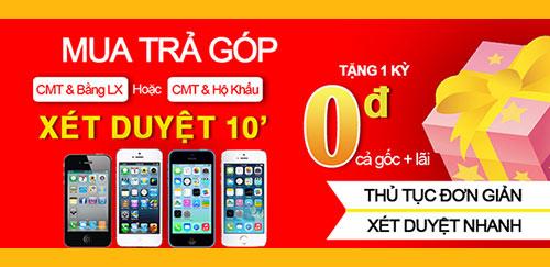 Mua iphone trả góp tại Huy Phong