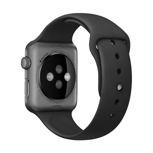 Dây Apple Watch 42mm Black Sport Band with Space Black (Chính hãng)