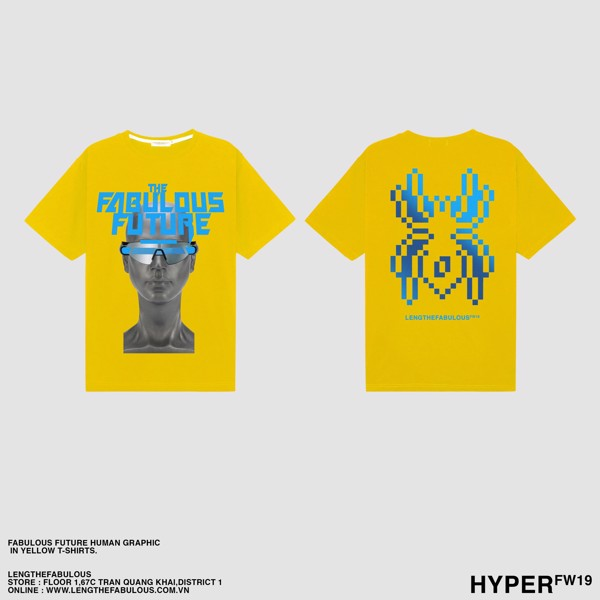 FABULOUS FUTURE HUMAN - YELLOW TEE
