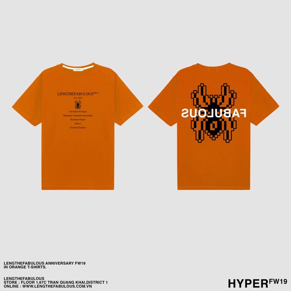 LENGTHEFABULOUS ORANGE ANNIVERSARY TEE