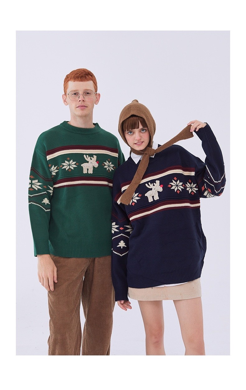 P100217 ÁO LEN HEYHENRY AUTHENTIC REINDEER KNIT SWEATER
