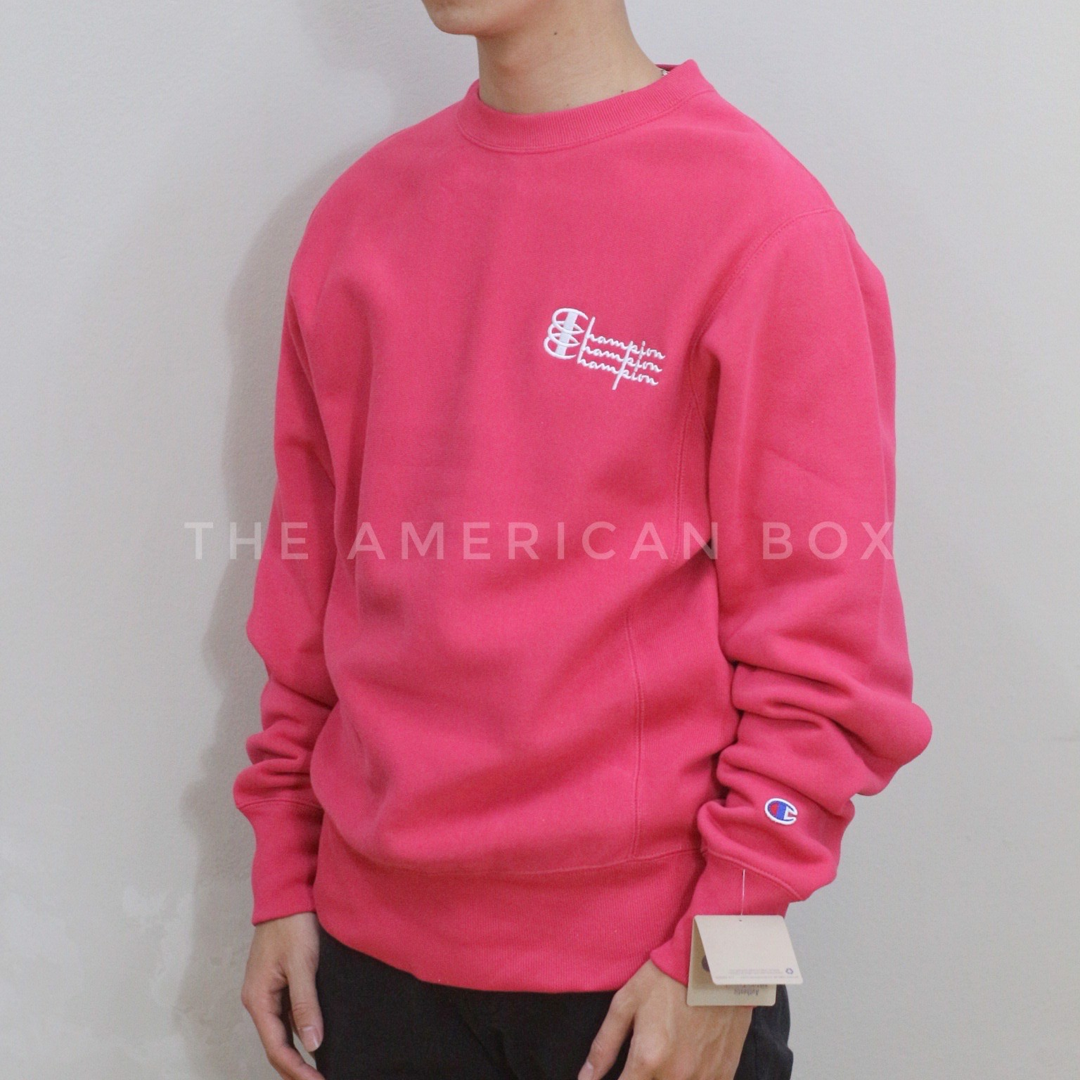 P100234 ÁO SWEATER CHAMPION TRIPLE SCRIPT CREWNECK