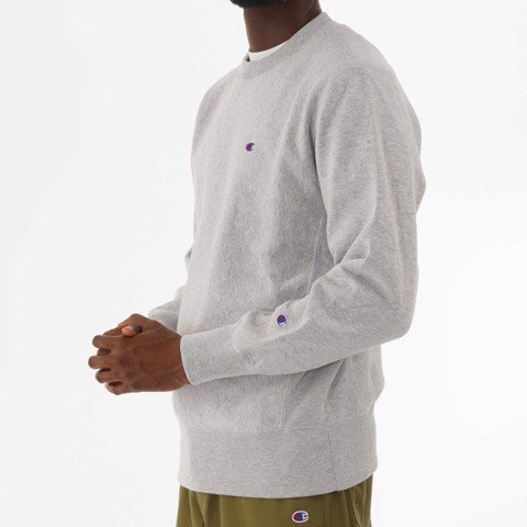 CHAMPION REVERSE WEAVE MINI LOGO SWEATSHIRT - GREY