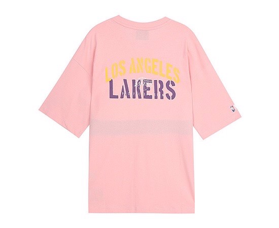 P100267 ÁO THUN NBA KOREA LAKERS - WHITE PINK AUTHENTIC P100257
