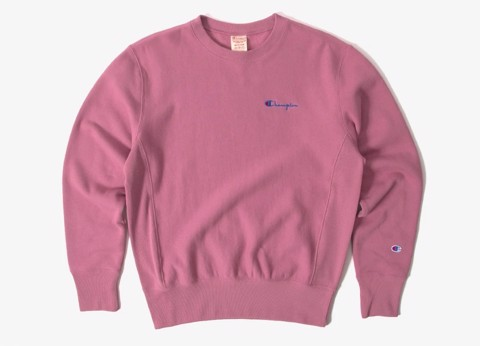 ÁO SWEATER CHAMPION REVERSE WEAVE SMALL SCRIPT - PINK