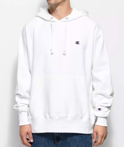P100160 CHAMPION REVERSE WEAVE PULLOVER HOODIE - WHITE