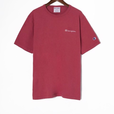 P100203 ÁO THUN CHAMPION GARMENT DYED 2020 MINI LOGO - CRIMSON