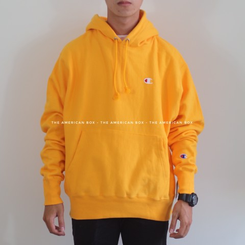 P100160 CHAMPION REVERSE WEAVE PULLOVER HOODIE - GOLD