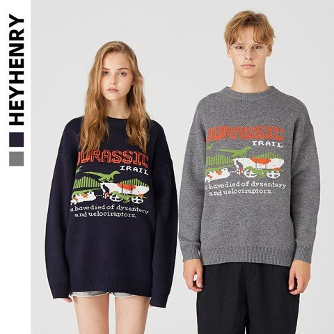 P100217 ÁO LEN HEYHENRY AUTHENTIC JURASSIC KNIT SWEATER