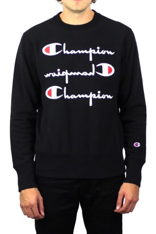 ÁO SWEATER CHAMPION REVERSE WEAVE TRIPLE LOGO
