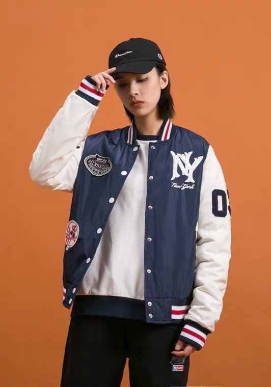 P100238 ÁO KHOÁC BASEBALL JACKET MLBNY CHINA 1903 - NAVY