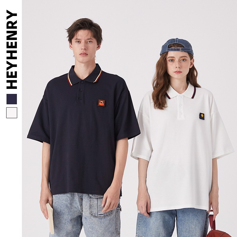 P100230 ÁO THUN HEY HENRY AUTHENTIC 3 PATCHS POLO