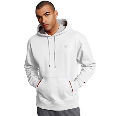 P100171 ÁO CHAMPION AUTHENTIC POWERBLEND PULLOVER HOODIE - WHITE