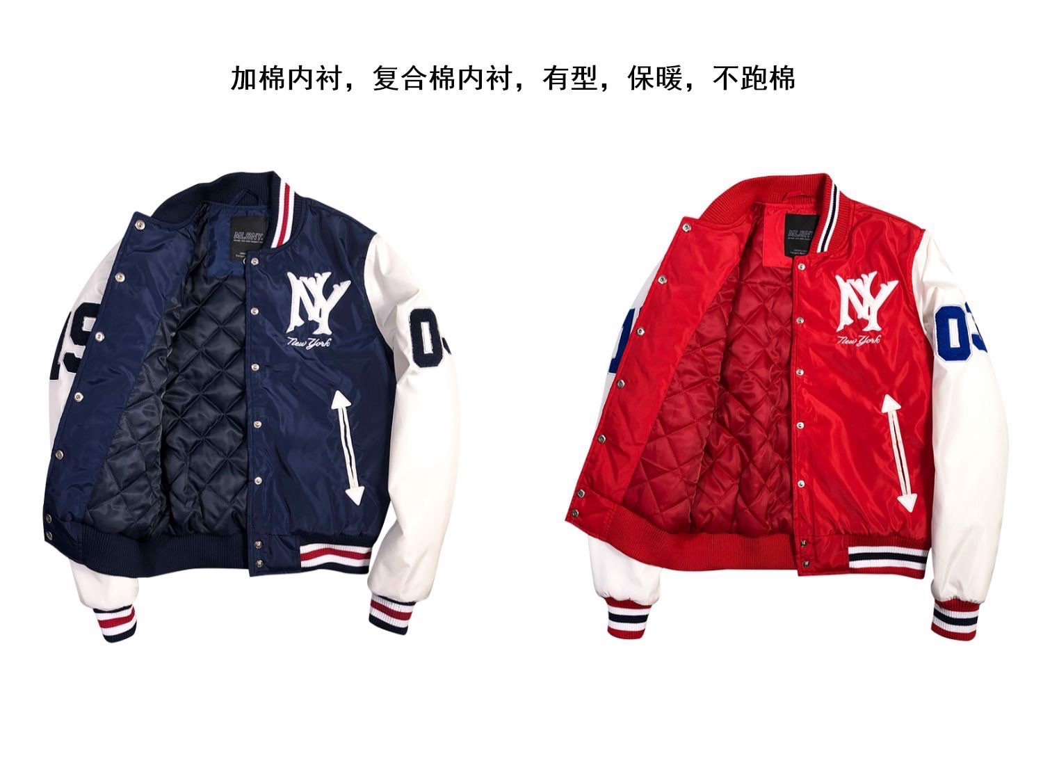 P100238 ÁO KHOÁC BASEBALL JACKET MLBNY CHINA 1903 - RED