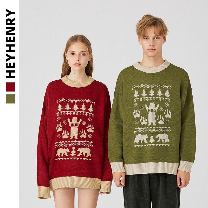 P100187 ÁO LEN HEYHENRY AUTHENTIC VINTAGE HUG KNIT SWEATER