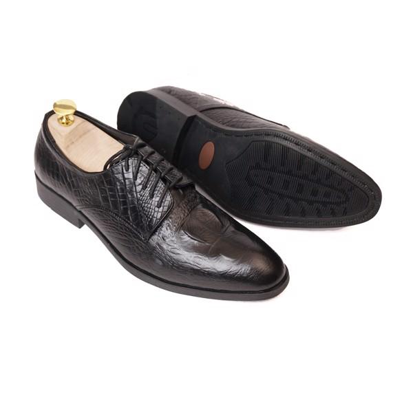 Giày da vân Cá Sấu đen công sở - 151920