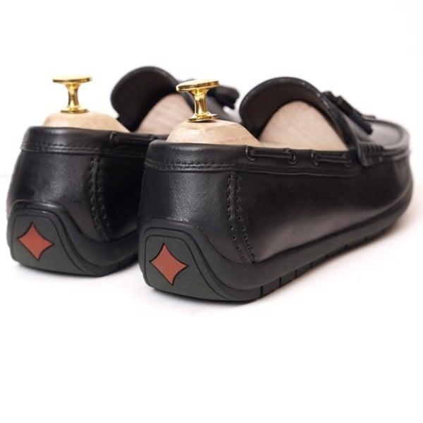 Giày lười da cao cấp - Đen 1018