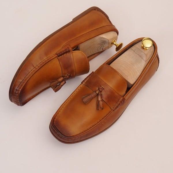 Giày da công sở cao cấp Nâu vàng 0918