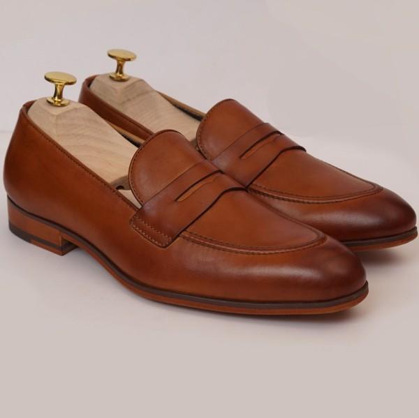 Giày da công sở cao cấp Nâu vàng 123-5