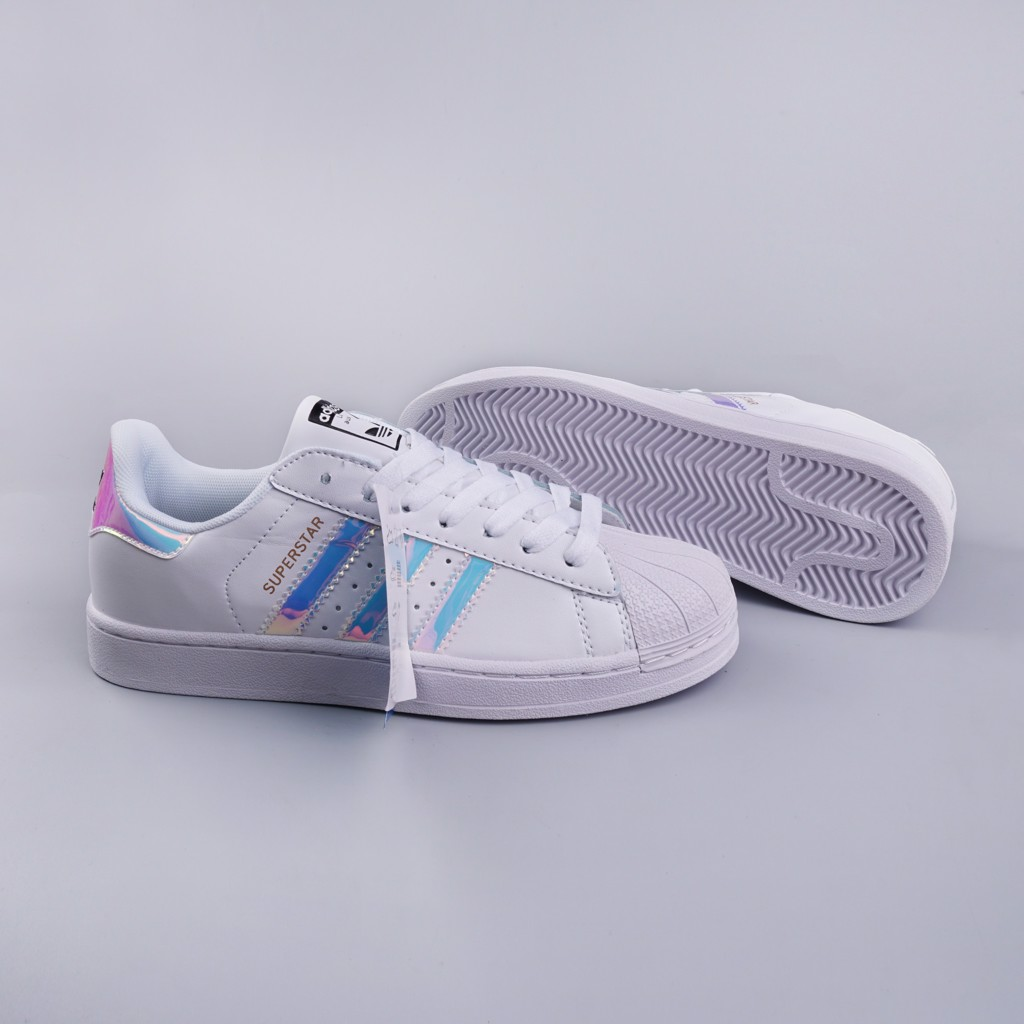Giày thể thao Sneakers Superstar viền cầu vồng SF