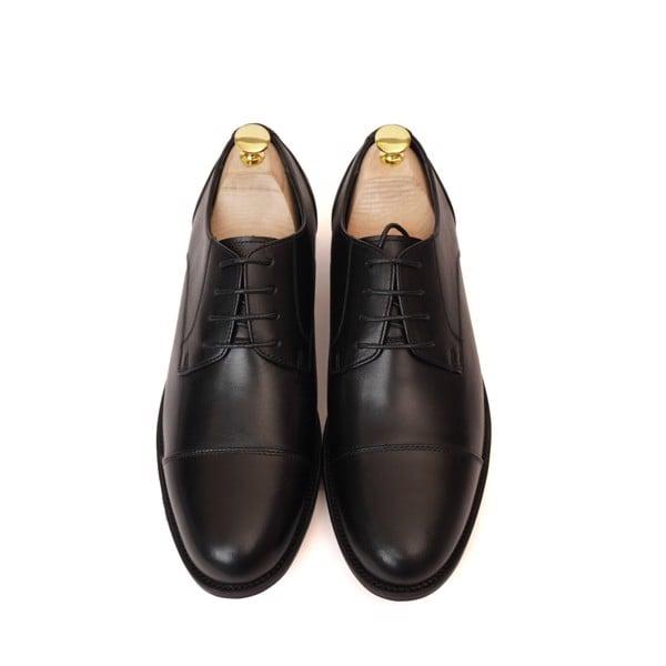 Giày da nam cao cấp buộc dây Đen - 004-2