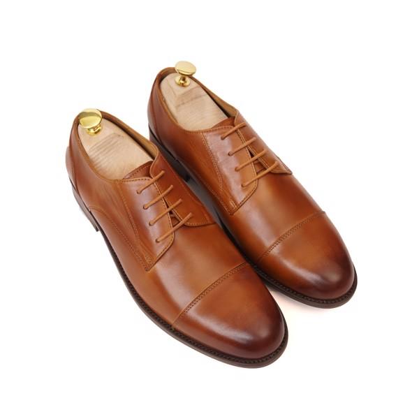 Giày da nam cao cấp buộc dây Nâu - 004-2