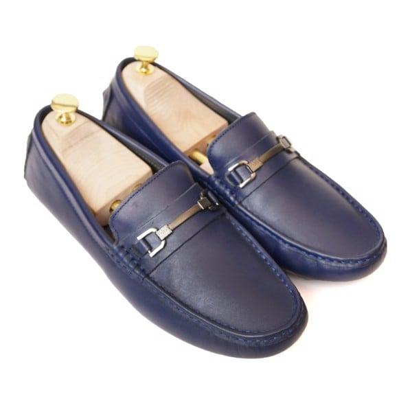 Giày lười da công sở khóa ngang đế mềm - 449899