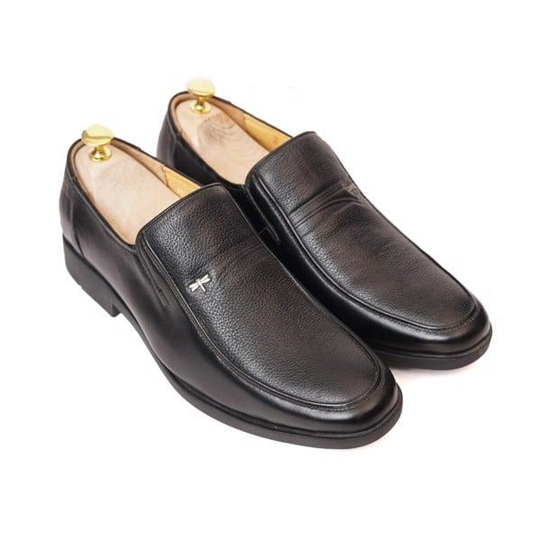 Giày lười da công sở cổ điển - Đen 75069