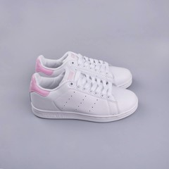 Giày thể thao Sneakers trắng Stansmith gót hồng SF